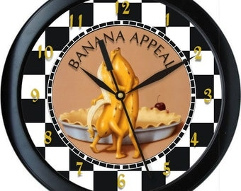 """Banana Appeal Personalized 10"""" Kitchen Wall Clock"""