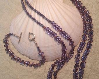 Purple AB Teardrop Set