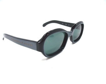 Emmanuelle Khanh Sunglasses Vintage Blue and black frame