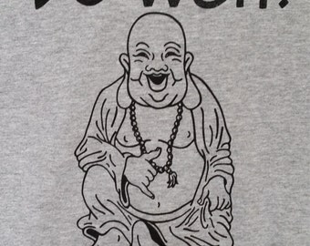 Be Well Buddha - Ladies Athletic Heather Grey 90/10 Cotton Tshirt (IN STOCK!!!)