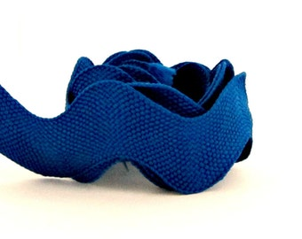 Blue Rick Rack / Yale Blue Maxi Rick Rack / Sewing Notions / Blue Trim / Jumbo Ric Rac / Blue Ric Rac / Jumbo Rick Rack / By the YARD