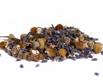 Organic Calm Herbal Tea 50g pouch. Calming and relaxing Loose Leaf Tea - Chamomile and Lavender.