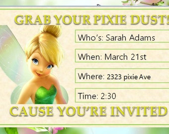 TinkerBell party invitation printable