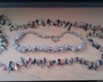 2 glass bead necklaces