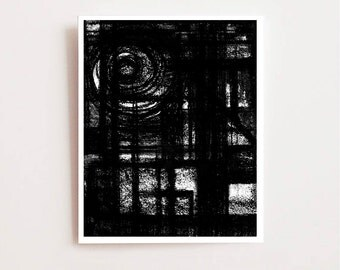 Modern abstract wall art, View- Fine art Giclee print, charcoal drawing, black and white, chic, lines, modern, abstract, sketch, painting