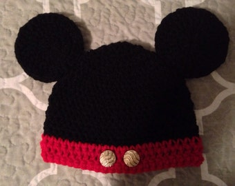 Hand Crochet Mickey Mouse Hat