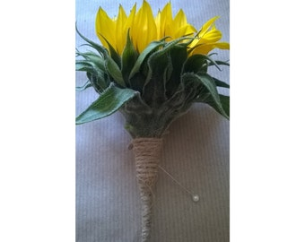 Buttonhole - Simply Sunflowers - Fresh/Real Flowers