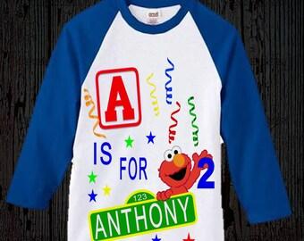 Elmo Birthday Shirt - Elmo Shirt - Elmo Christmas Gift