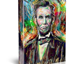 Abraham Lincoln Canvas Art, Abe Lincoln Canvas, President painting