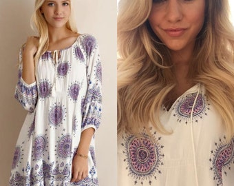 SALE Boho Chic Medallion Dress