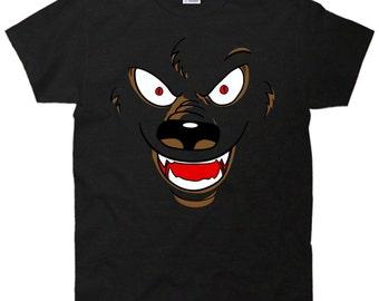 Werewolf Cartoon Face Cool T-Shirt