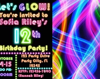 Glow Party Invitation!
