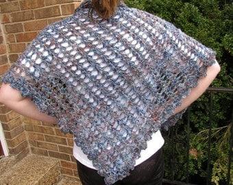 Misty blue scarf/shawl
