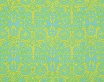HALF METRE Amy Butler Soul Blossoms - Joy Temple Doors in Fresh Mint
