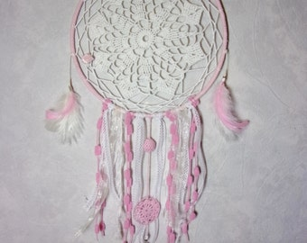 dreamcatcher romantic pink and white