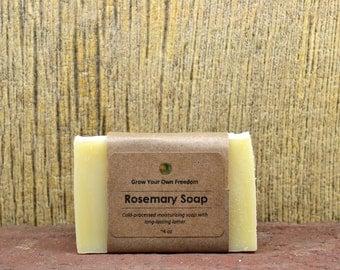Organic Rosemary Soap, Handmade Organic Soap, Organic Cold Process Soap