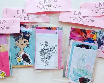 Camp Gallery souvenir sticker set