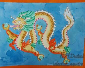 Dragon (original 9x12 painting)