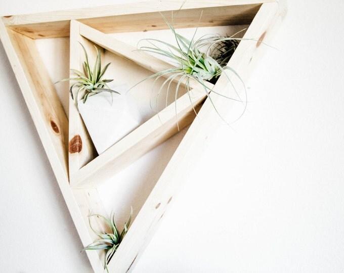 Double Triangle Wood Shelf - Twisted