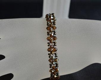Swarovski crystal bracelet fine crystal bronze shade 2x