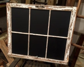 Rustic Window Pane Chalkboard