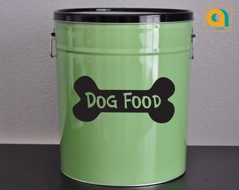 DOG FOOD DECAL for your pet food container (28 color options). Storage Container Decor. Christmas stocking. Gifts for Pets
