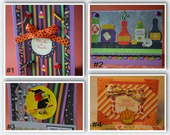 Halloween Handmade Cards (Your choice!)