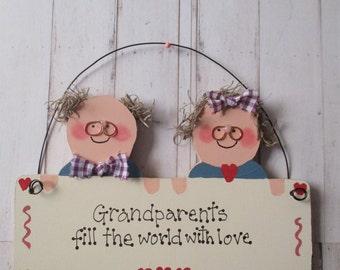 Grandparents Wooden Plaque