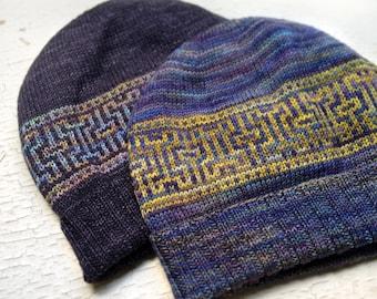 PDF Knitting Pattern - Artifact Hat