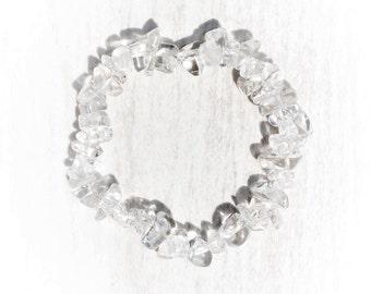 Crystal Quartz Chips Elastic Bracelet