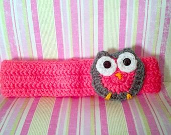 Girls crochet ear warmer headband