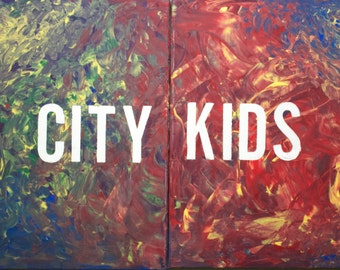 City Kid (WCMTL Abstract Collection) 20 x 32 inches