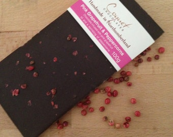 Pink Grapefruit & Peppercorns Chocolate Bar
