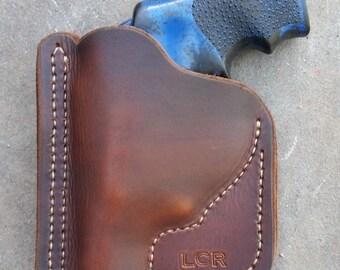 brown Pocket Ruger LCR holster