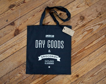 Dry Goods & Groceries//canvas bag