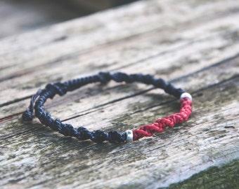 Women bracelet Black and Red Bracelet Friendship Bracelet Adjustable Bracelet Gift For Her Handmade Bracelet Beaded Jewelry Braided Bracelet