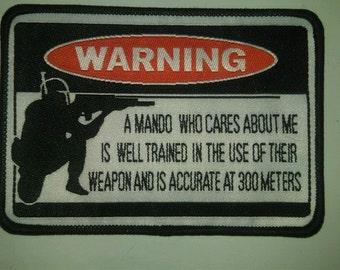 Star Wars Mando Warning Patch