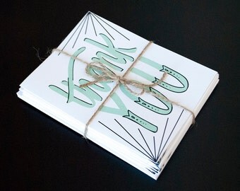 Handmade Thank You Cards (Pack of 10)