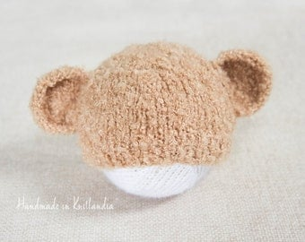 Baby Hat with Ears, Newborn Photo Prop