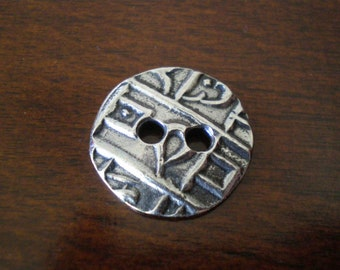 """3 - TierraCast Coin Metal Buttons with Holes approx. 3/4"""" (17mm)"""