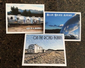 On the Road Again! - Airstream Card Set