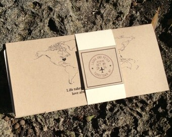 Boarding Pass Wedding Invite : Destination Theme 3.5 Piece with Matte Envelopes