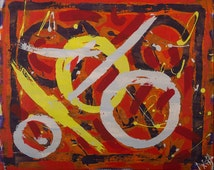 Abstract Painting ... Noughts and crosses