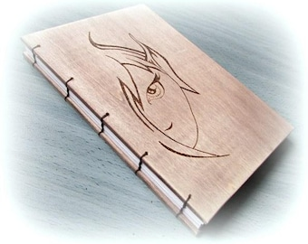 Medium wood notebook Goblin