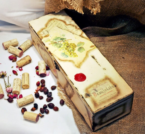 Wedding Gift Box Wine : Wine box Wine Caddy wedding gift box gifts for wine lovers bottle ...