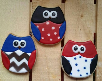 Owl cookies - can be any color combination