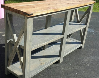 Rustic Buffet Table/Shelves