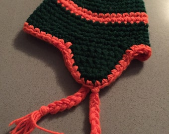 "Handcrafted Earflap Beanie - ""Tail Press"""