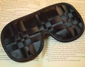 Black Classics Eye Mask Satin Ribbon Sleep Mask Gift