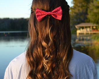 Pink Watermelon Seed Hair Bow